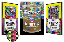 Rainbow Soup by Patrick Rubinstein - Kinetic sized 19x28 inches. Available from Whitewall Galleries